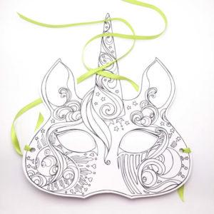 Unicorn Paper Mask
