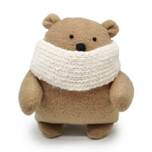 Winter Bear In Cream Scarf