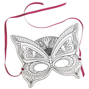 Mask – Colour In Butterfly
