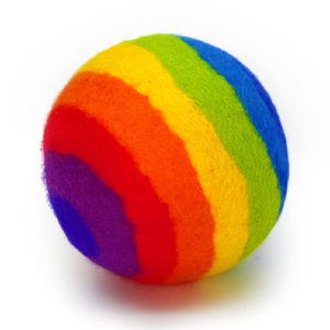 100% Pure Wool Felted Ball