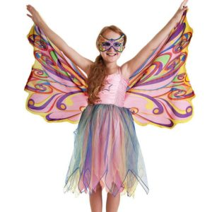 Rainbow Fairy Wings And Mask