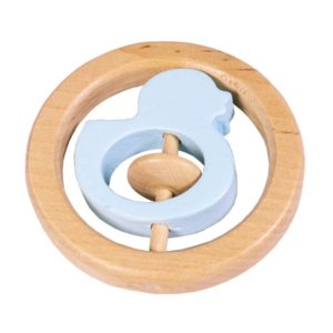 Duck Hand Rattle Blue