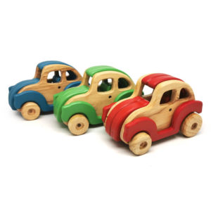 Bugsby Wooden Car