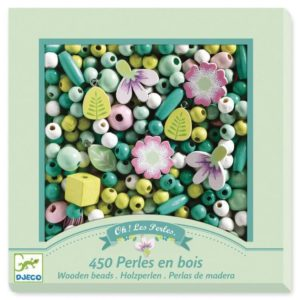 Wooden Beads – Flowers & Leaves