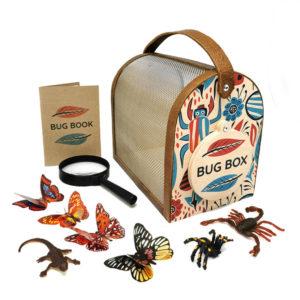 Wooden Bug Box & Accessories