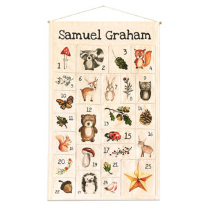 Personalised Forest Friends Advent Calendar